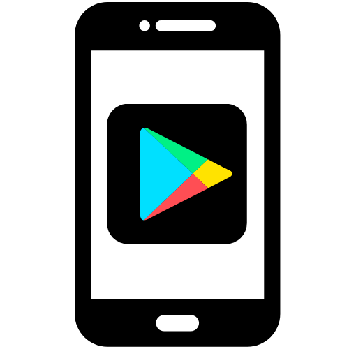 This is an image of a black Android logo, if you click on it you can go to the Google Play store where you can download I-Connect.
